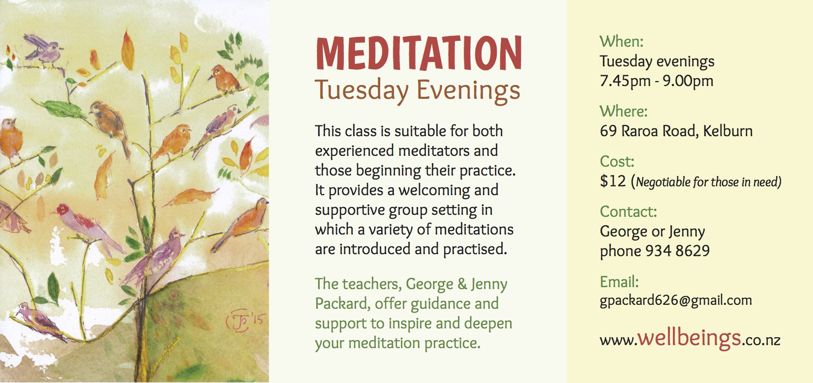 Tuesday Meditation a5d 2018